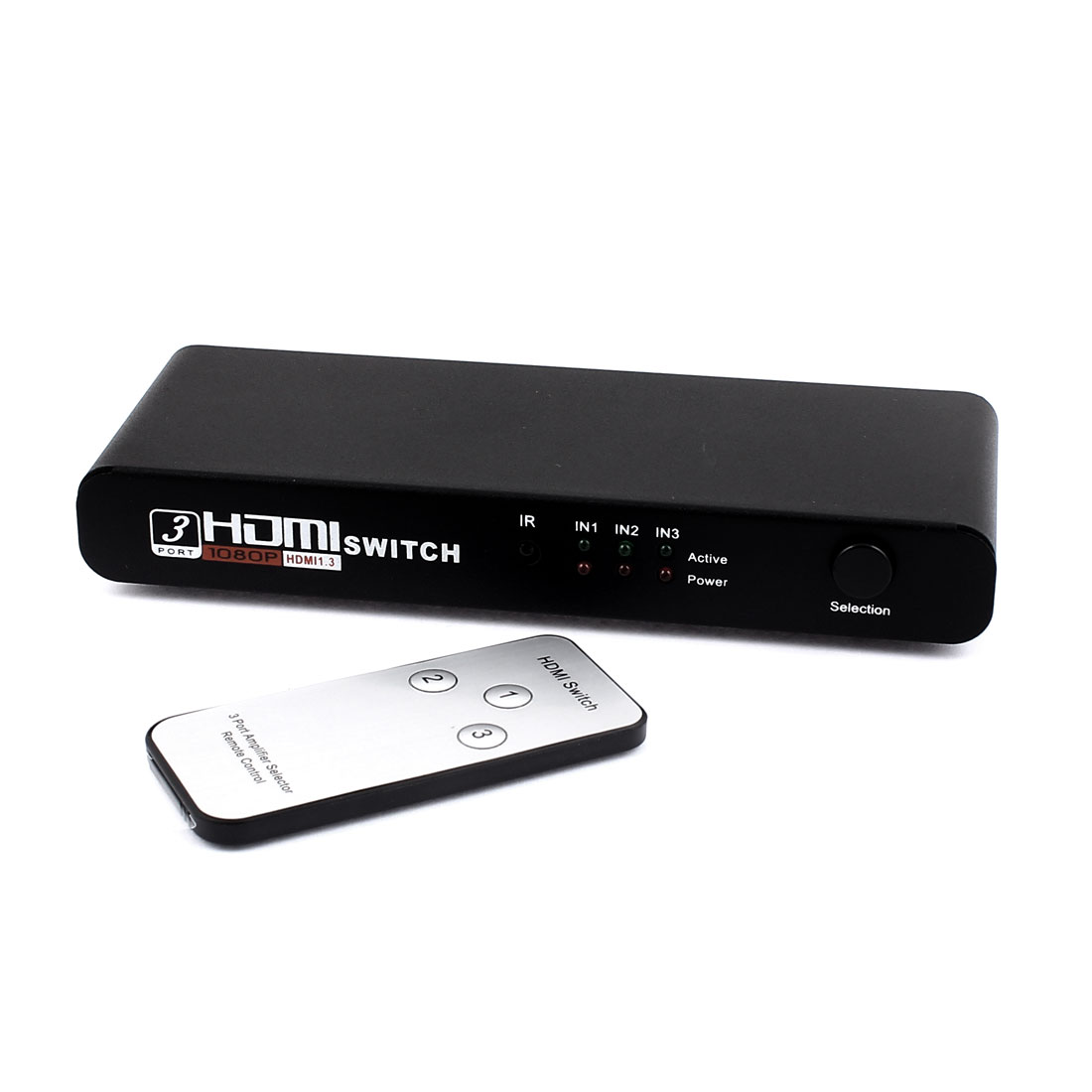 Amplifer Selector Remote 3 Port HDMI Switch Switcher Splitter HDTV 1080P