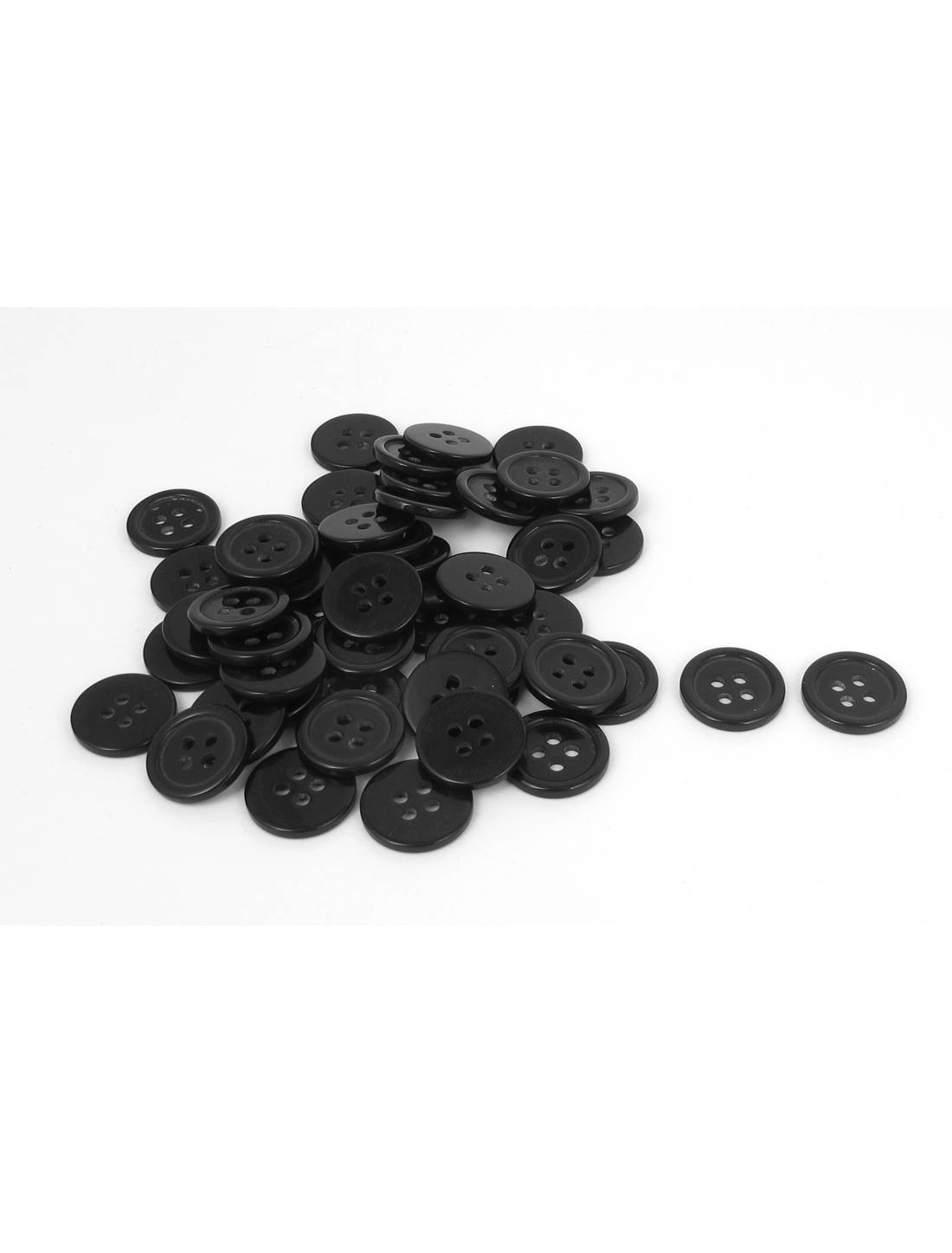 50pcs Black Round Resin Buttons 4 Holes Clothing Button Scrapbooking Sewing 1.3cm