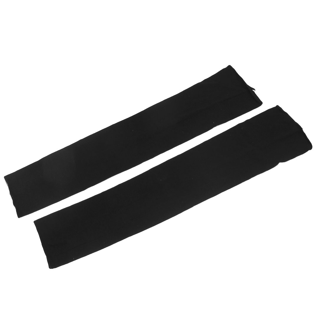 Unisex Stretchy Outdoor Activity Skin Cover Sun Protection Arm Sleeves Black