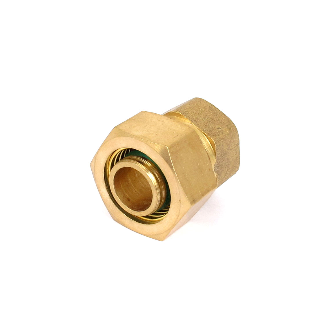 Gold Tone 1/2BSP Thread 16mm Air Hose Piping Pneumatic Quick Joint Connector Fitting Coupler