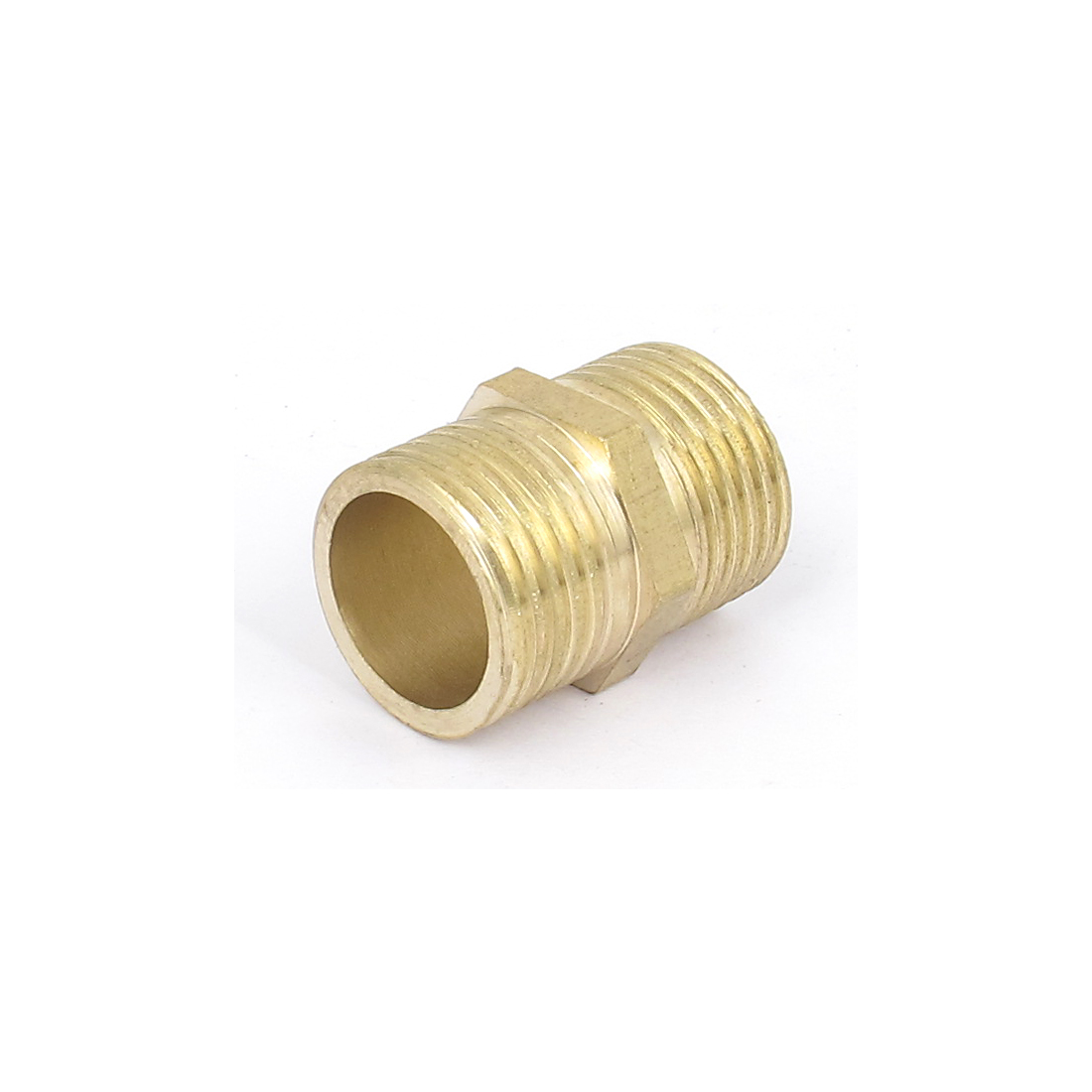 Gold Tone Brass 1/2BSP to 1/2BSP Male Thread Hex Nipple Connector Fitting 29mm Long