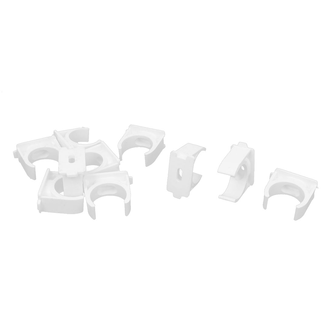 10pcs 25mm Diameter White Water Supply Pipe Tube Hose Clamps Snap in Clips Fittings