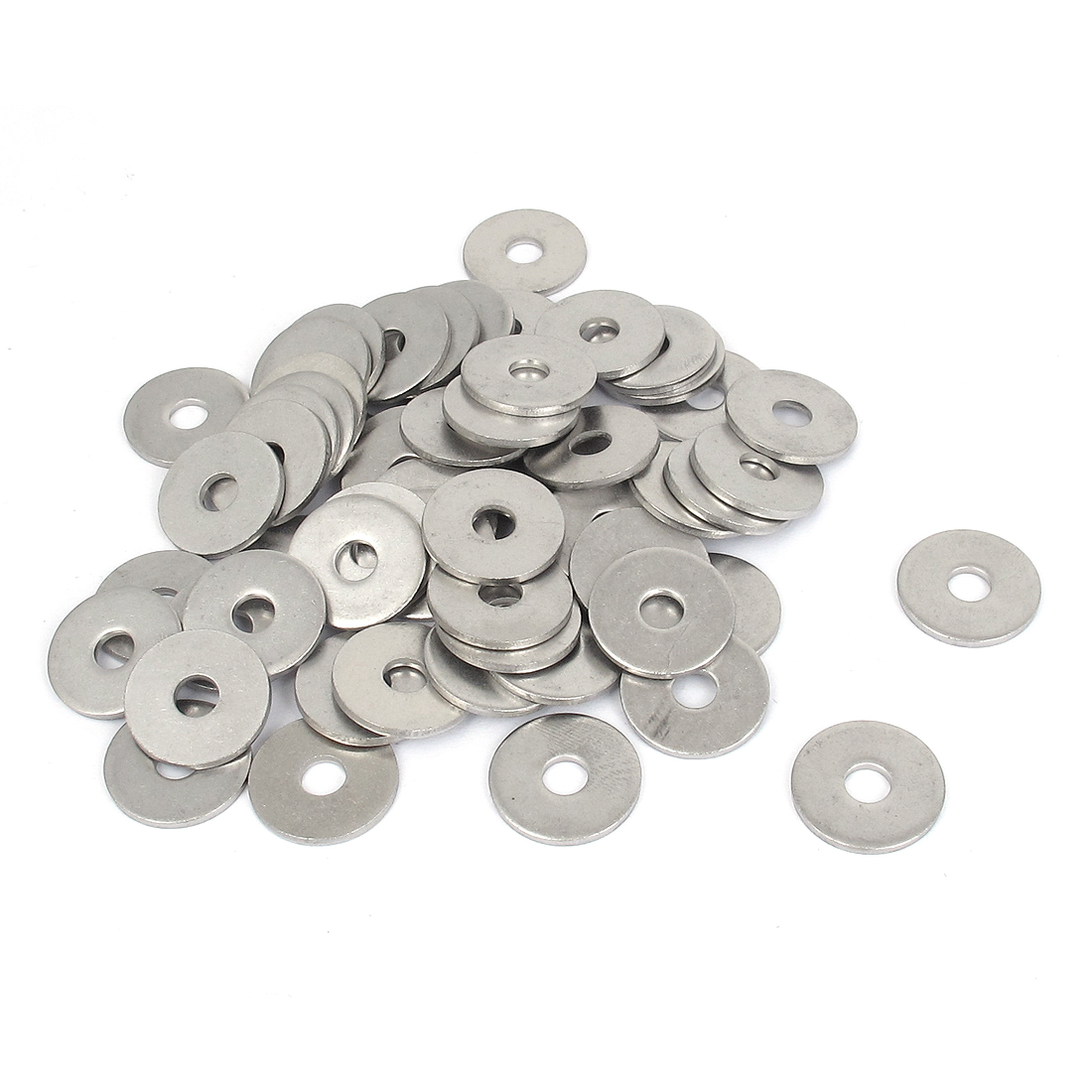 60Pcs M6x22mmx2mm Stainless Steel Metric Round Flat Washer for Bolt Screw