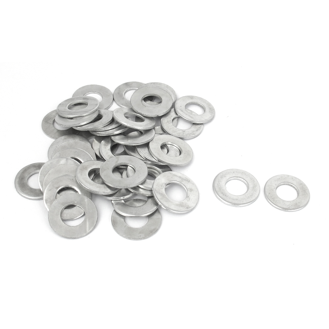 40Pcs M10x20mmx1.5mm Stainless Steel Metric Round Flat Washer for Bolt Screw