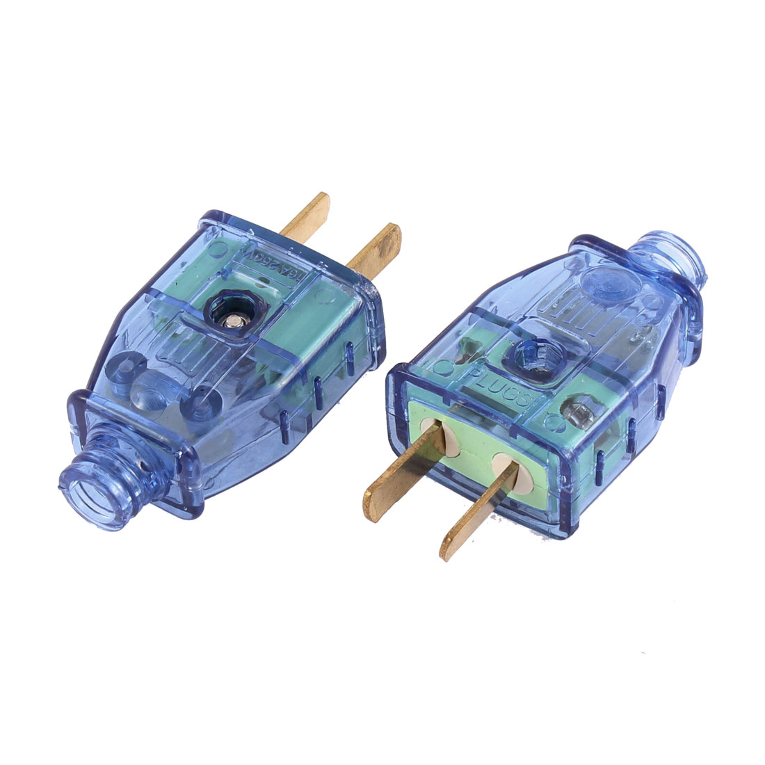 AC 250V 16A AU US 2 Pin Rotation Power Plug Adapter Connector 2 Pcs