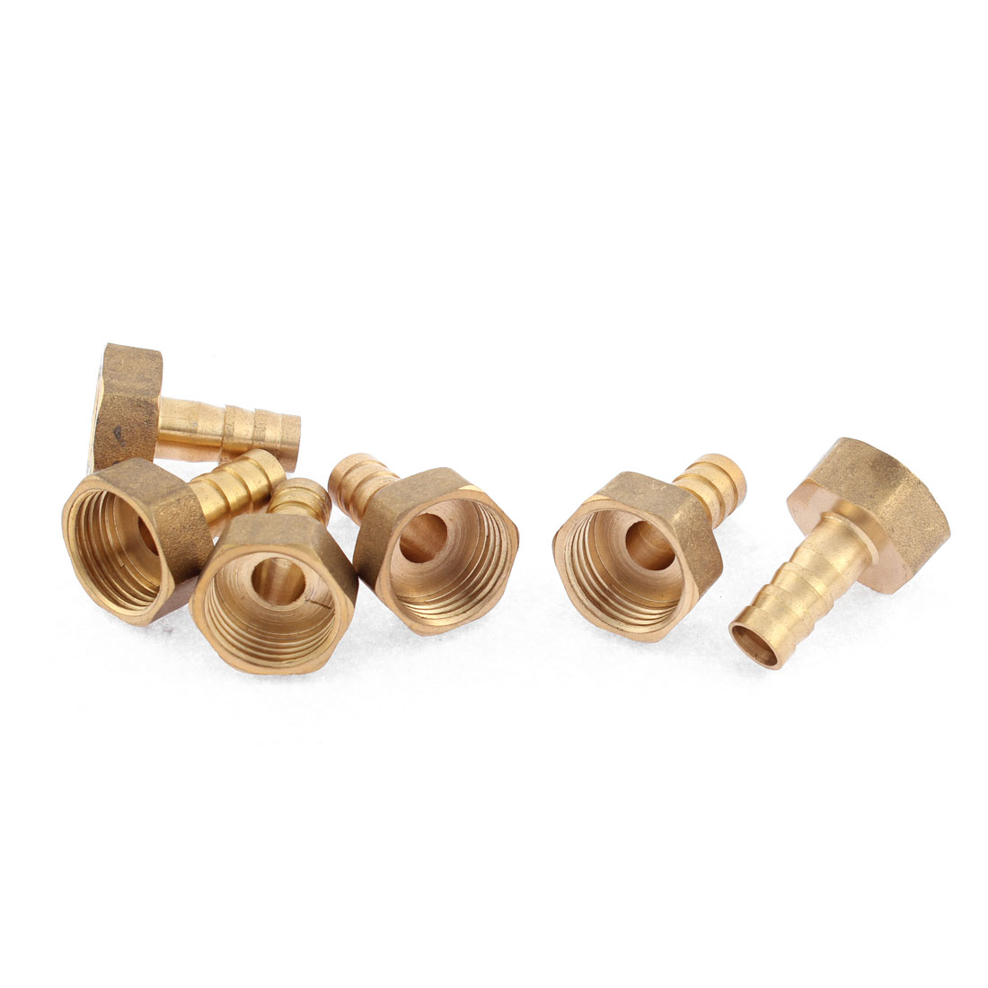 M18 Female Thread to M8 Air Gas Hose Barb Fitting Adapter Coupler 6pcs