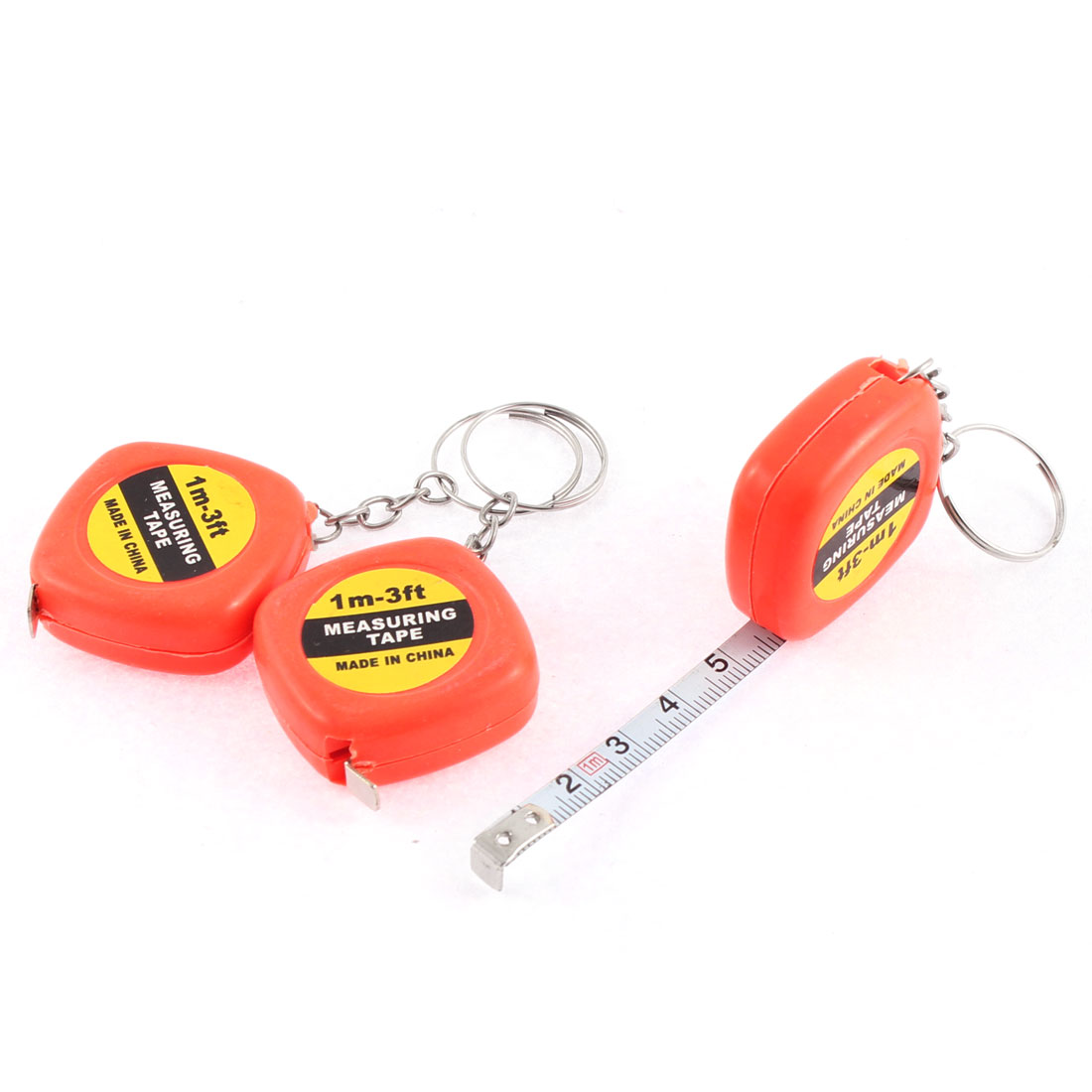 3 Pcs Retracted Tailor Sewing Measuring Measure Ruler Tape Keyring 1M 3.3Ft Long