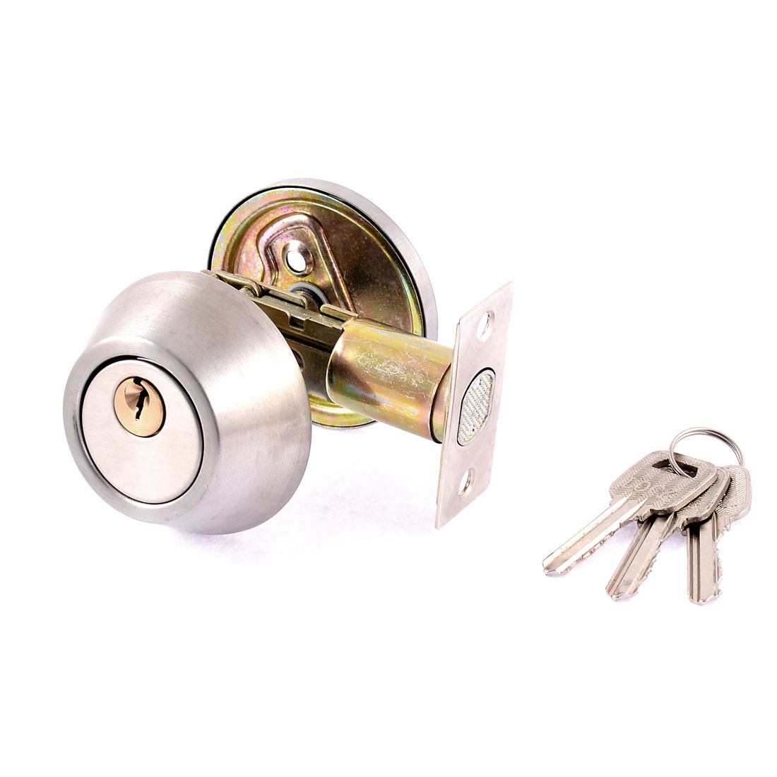 Cylinder Shape Single Deadbolt Security Door Keyed Locks knob Lockset