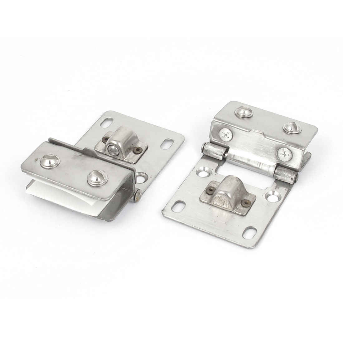 2pcs Silver Tone Metal Half Rectangle Shape Clamp Clip Holder for 10mm-8mm Thick Glass
