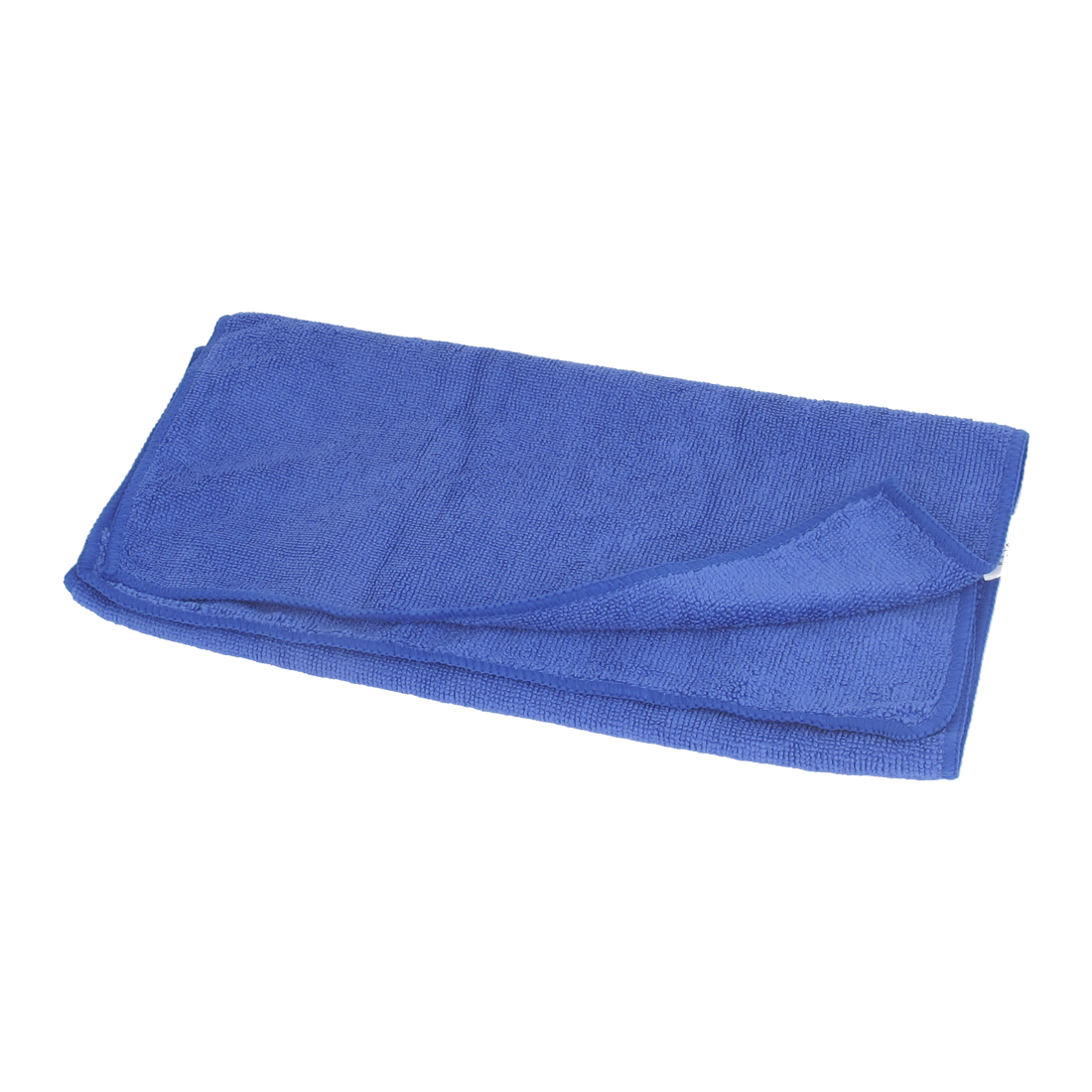 64cm x 33cm Blue Microfiber Rectangle Drying Bath Shower Facial Towel Sheet Facecloth Wash Cleaning Cloth