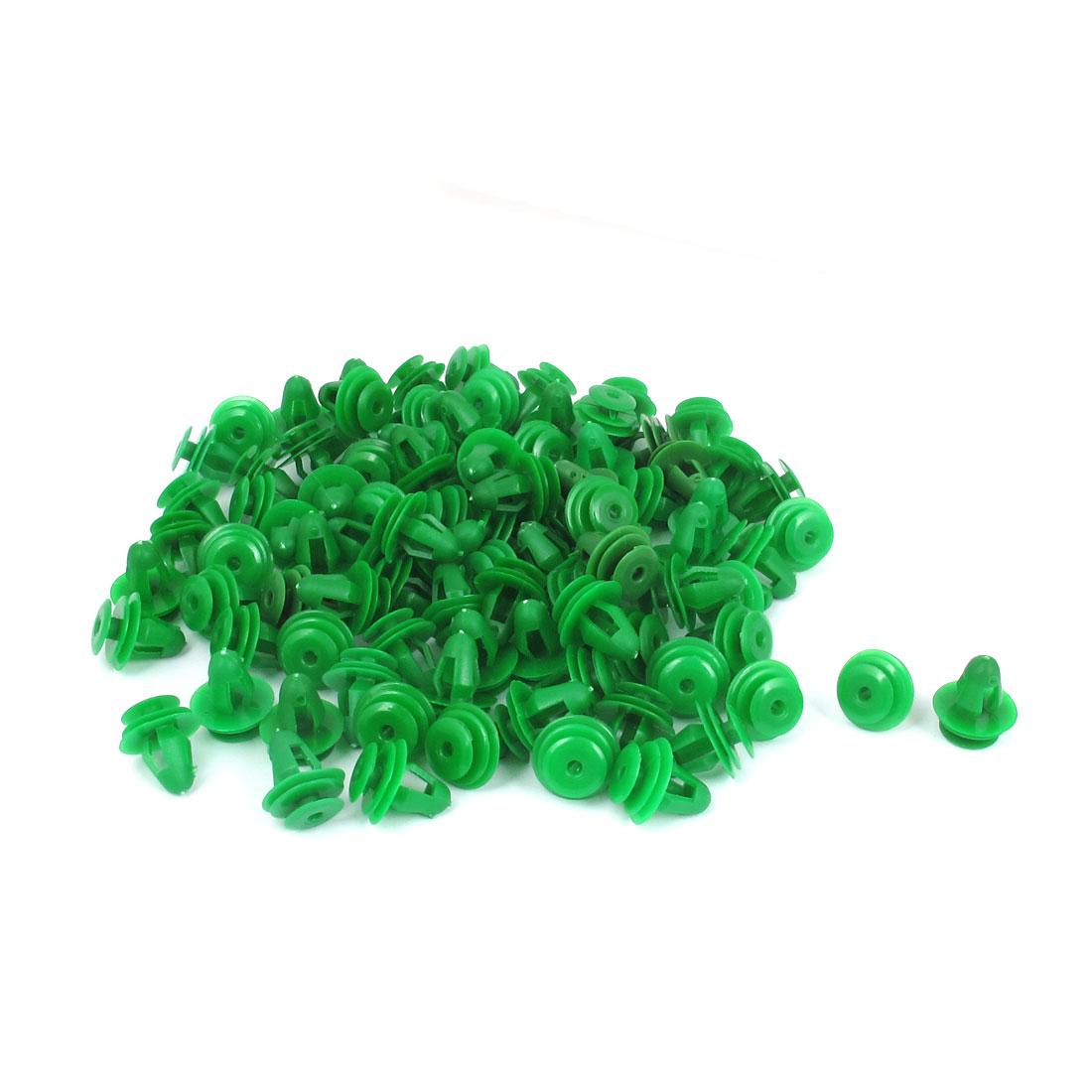 100pcs Green Plastic Door Fender Bumper Push Rivets Screw Fasteners Clip for Auto Car Vehicle