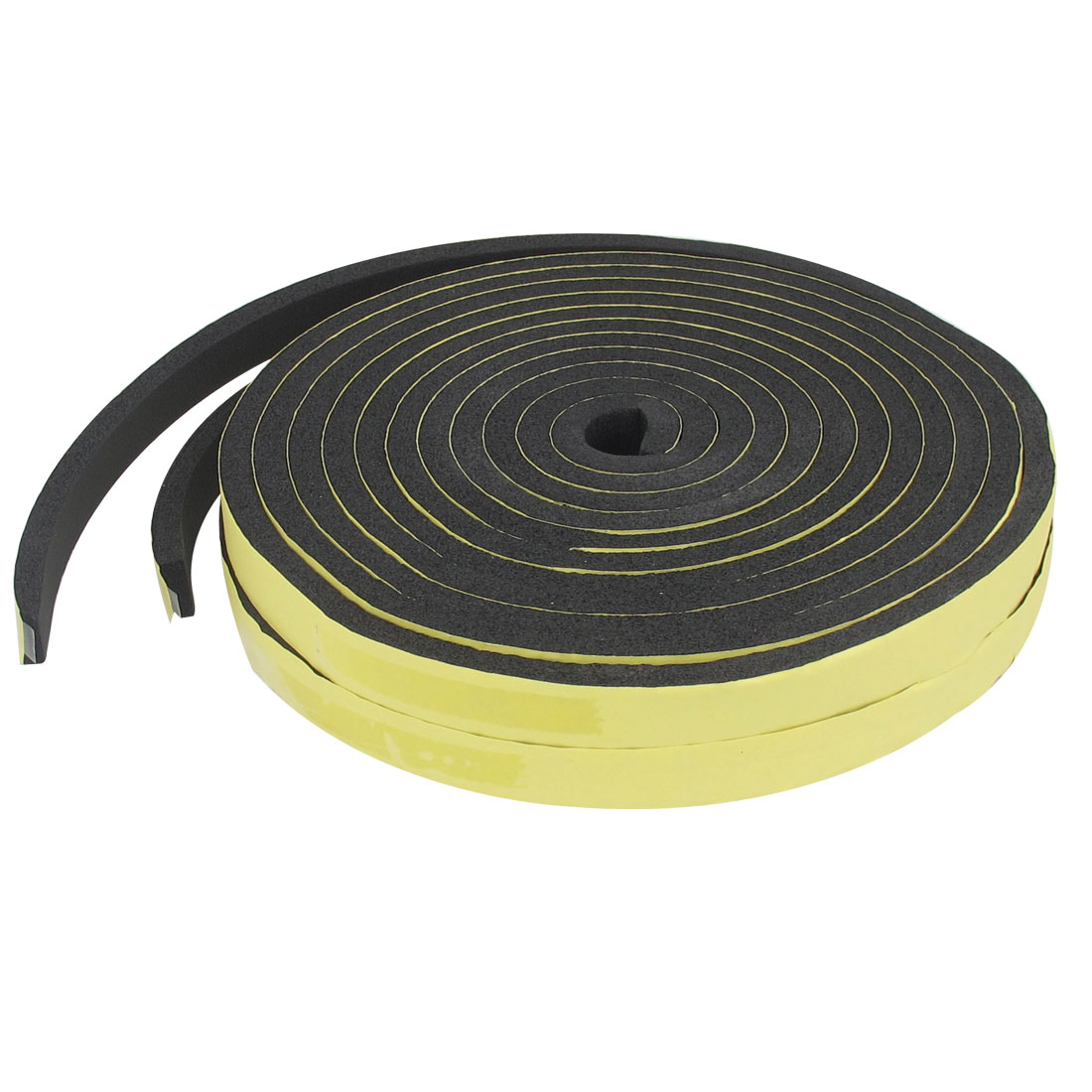 2 Pcs 500cm Length 2cm Wide Black Foam Self Adhesive Air Sealed Strip for Auto Car Door
