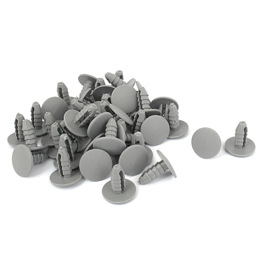 50pcs 8mm Hole Gray Plastic Car Door Fender Bumper Push Rivets Fasteners Retainer Clip