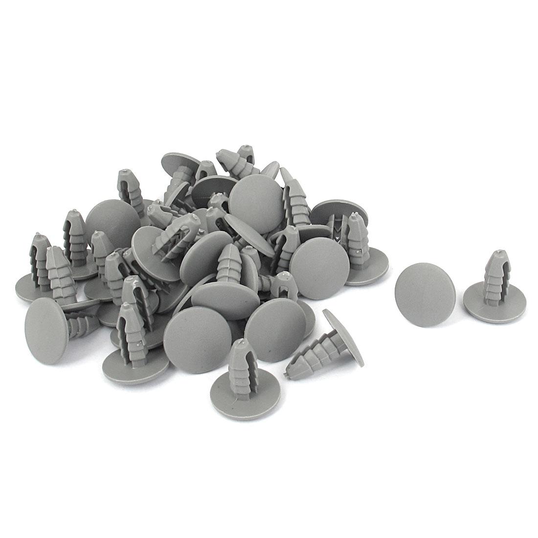 50pcs 8mm Hole Gray Plastic Car Door Fender Bumper Push Rivets Fasteners Retainer Clip