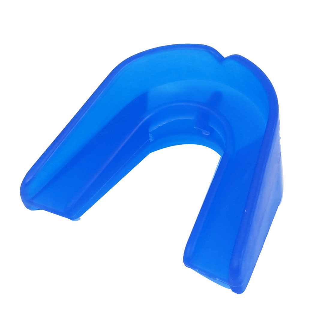 Blue Soft Plastic Sports Boxing Double Layer Guard Mouth Gum Shield Teeth Protector w Case
