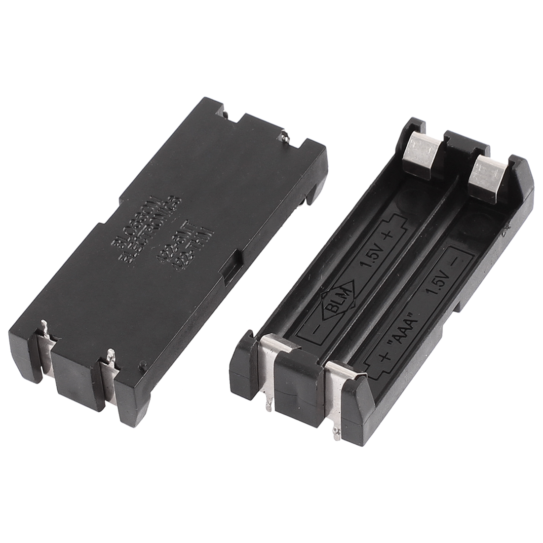 Plastic Shell 2 x 1.5V AAA Battery Box Case Holder 4 Pins Contact 2Pcs