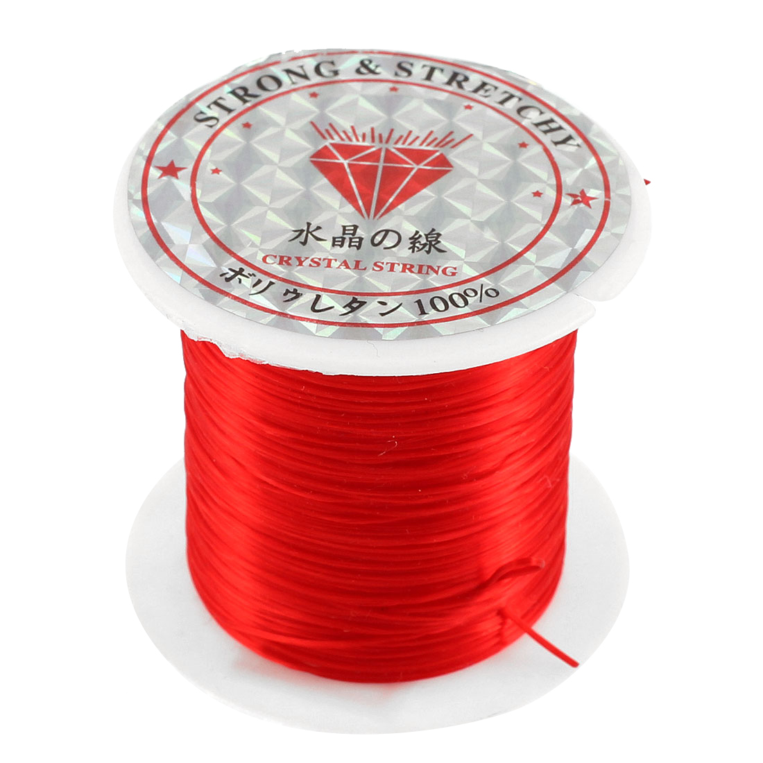 Stretchy Elastic Bracelet Making String Beading Thread Cord Roll Red 10M Length