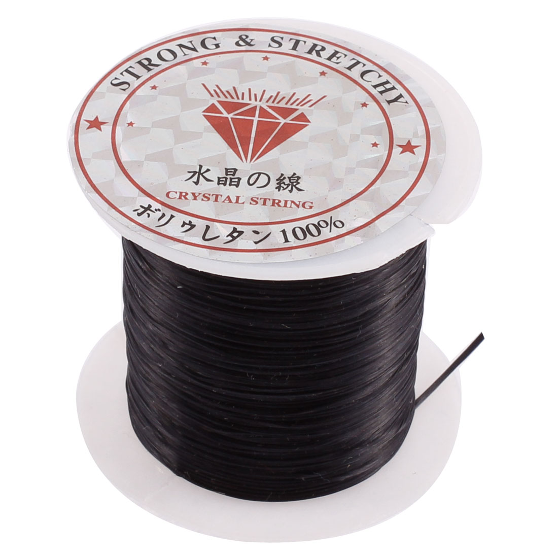 Elastic Stretch Jewelery Bracelet Making String Beading Cord Roll Black 10M Long