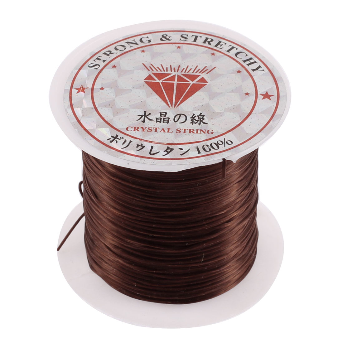 Elastic Bracelet Necklace Making String Beading Thread Cord Coffee Color 10M Long