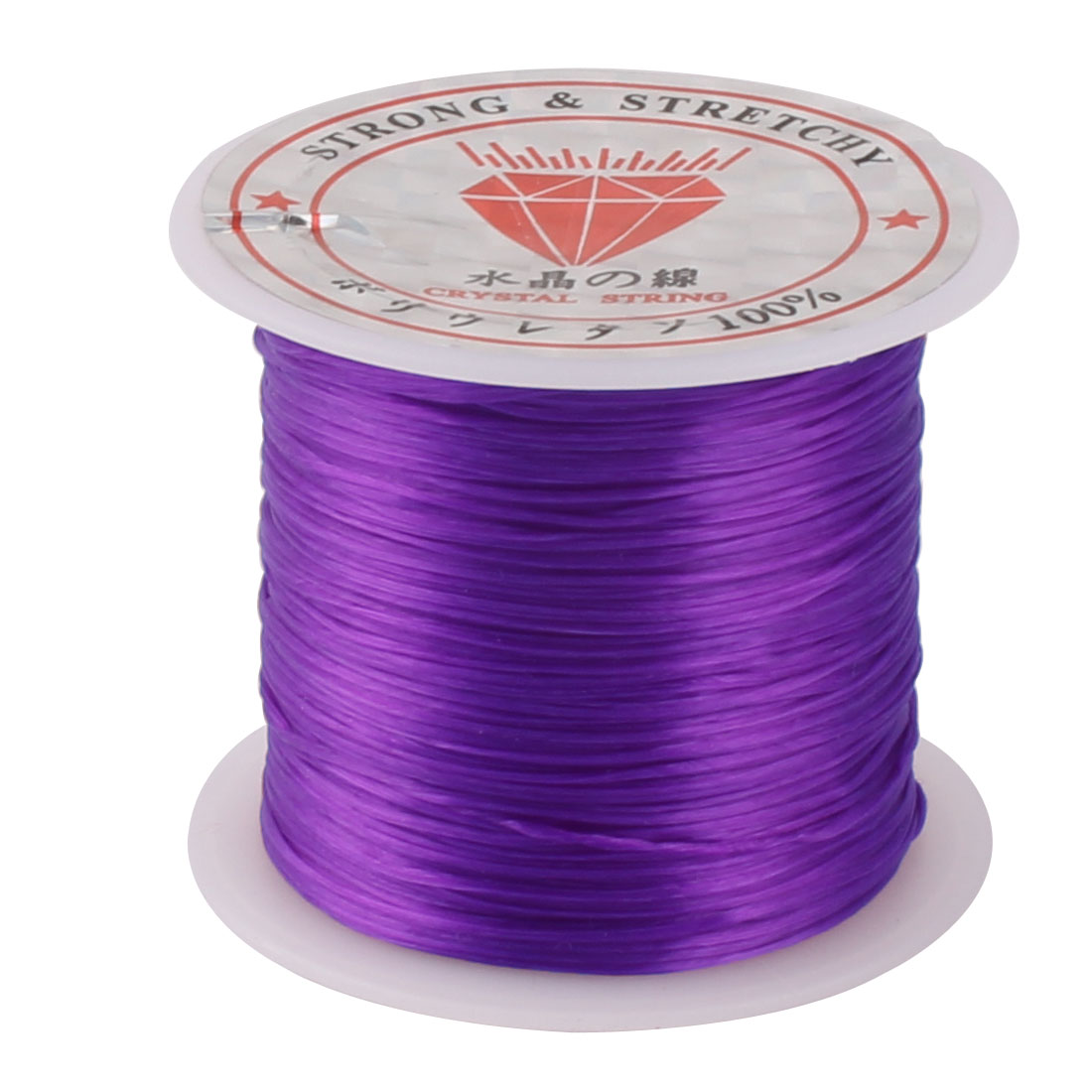 Stretchy Elastic Bracelet Making String Beading Thread Cord Roll Purple 10M Length