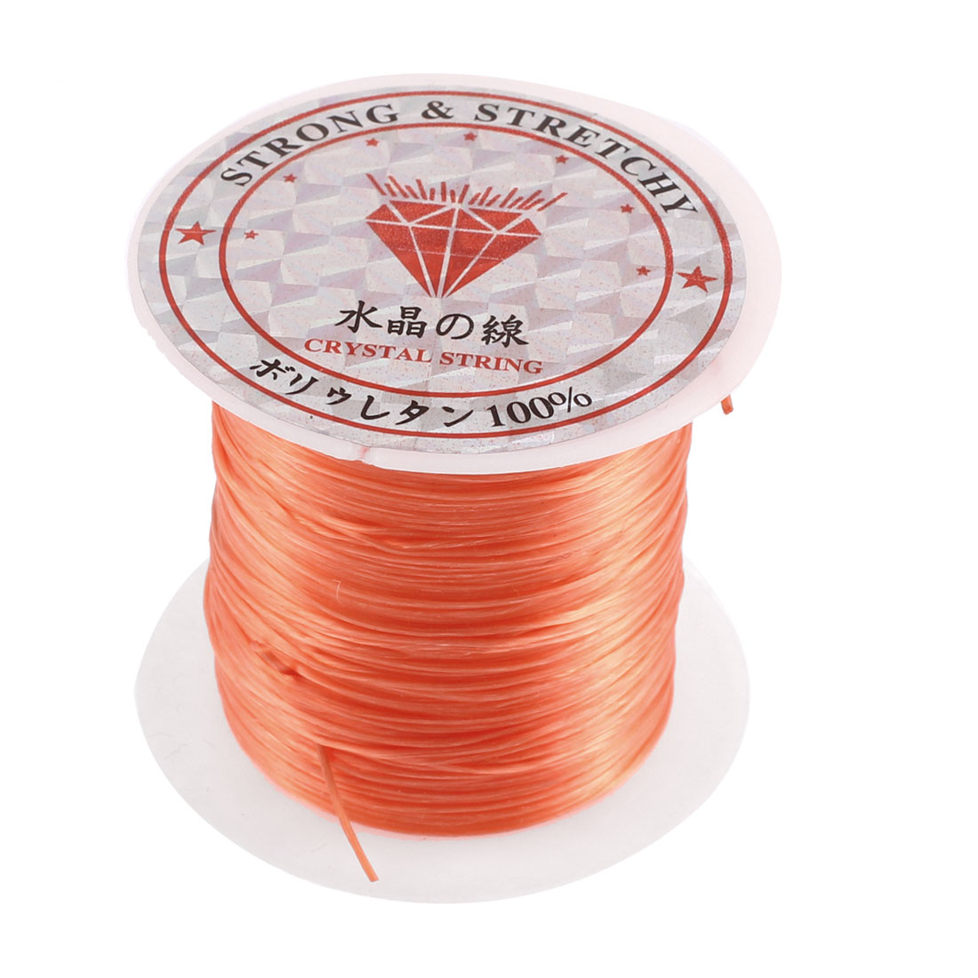 Elastic Bracelet Making String Beading Thread Cord Roll Orange 10M Length
