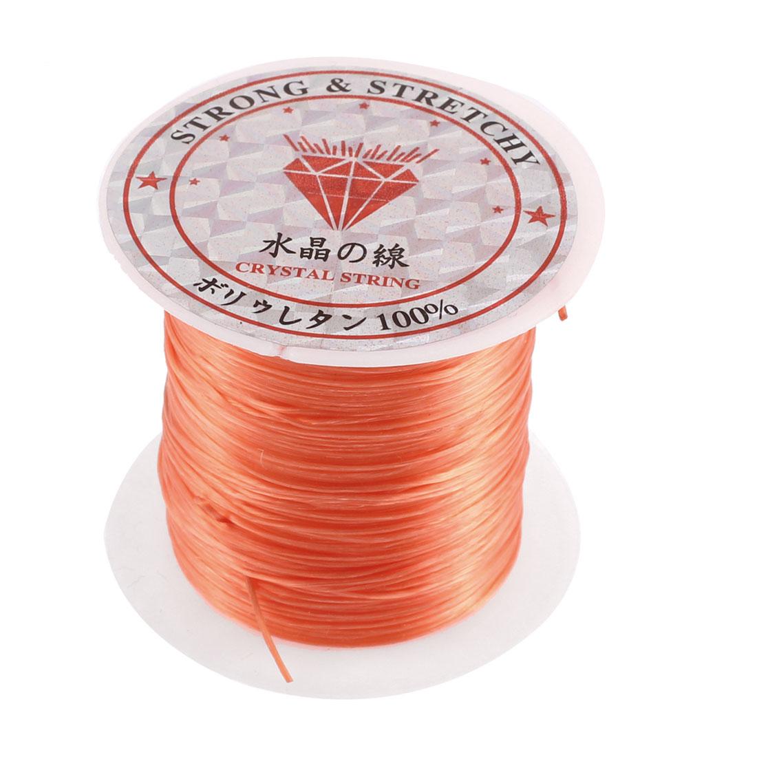 Elastic Bracelet Making String Beading Thread Cord Roll Orange 10M Length