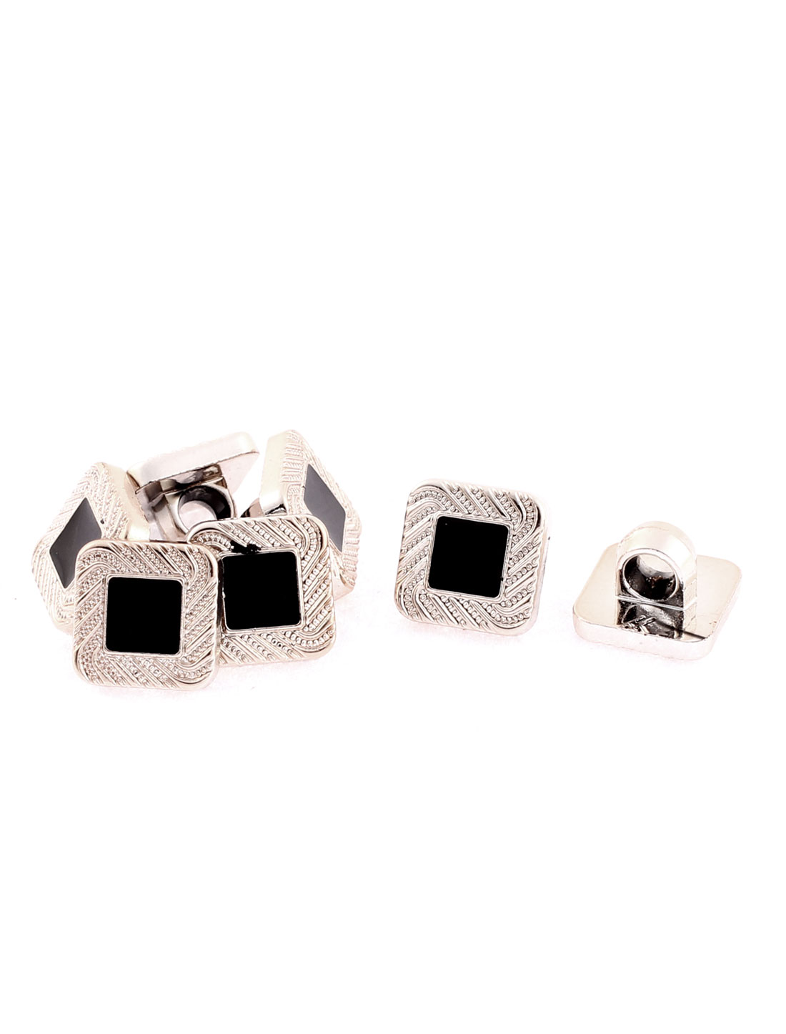 Square Shaped Shirt Coat Clothes Buttons 10mm x 10mm 7Pcs