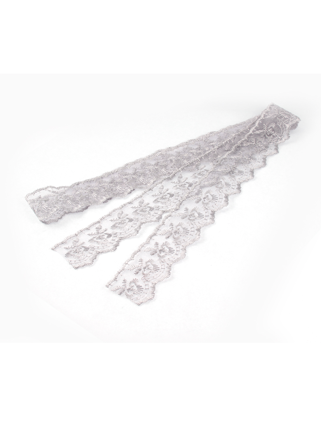 Bridal Wedding Lace Trim Ribbon Gray 1M 3.3Ft Long 4.5cm Width
