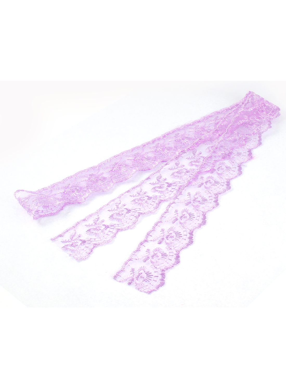 Headwear Veil Dress Making Lace Trim Ribbon Purple 4cm x 1M