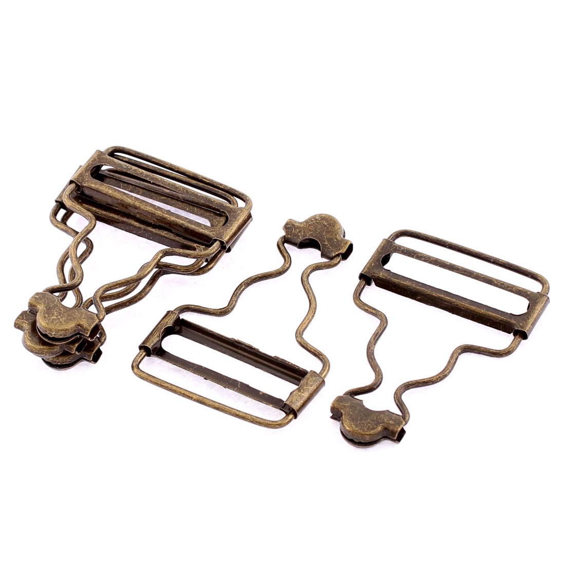 32mm Inside Width Dungaree Fasteners Clip Suspender Buckles 5Pcs