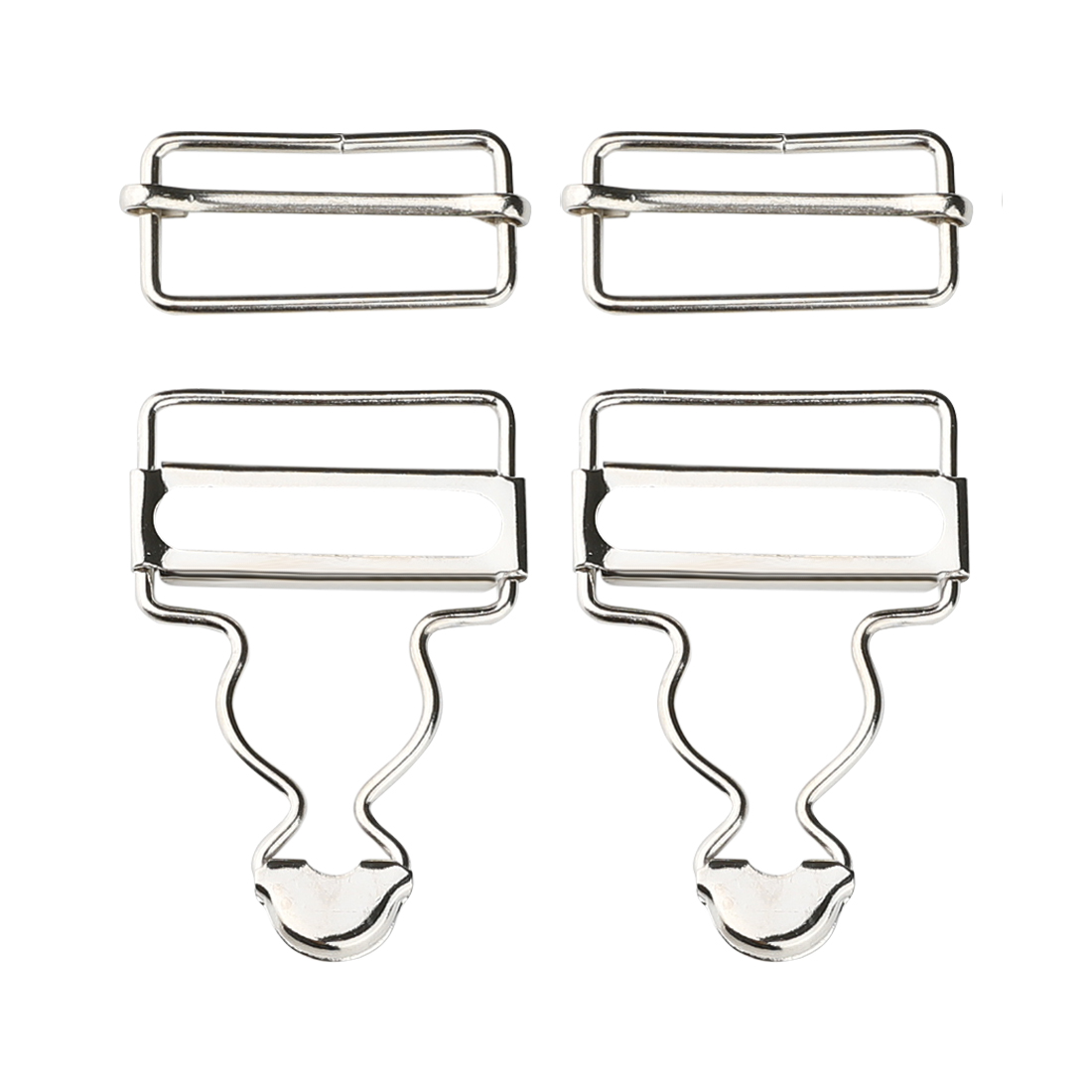 Dungaree Strap Adjuster Fastener Suspender Buckle Silver Tone 5Pcs