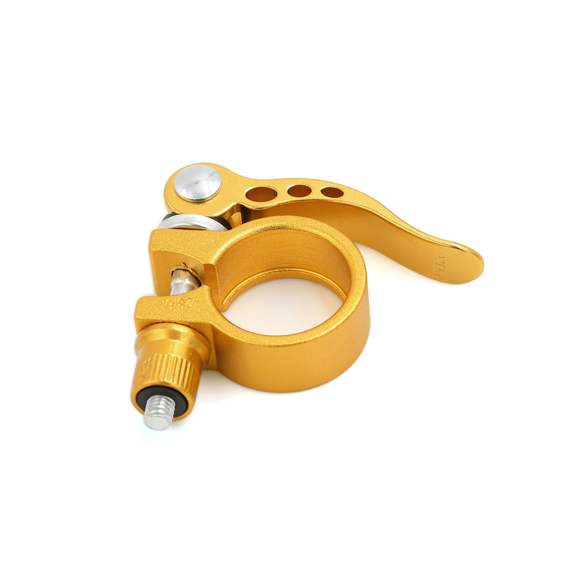 28.6mm Quick Release Seatpost Seat Post Clamp Gold Tone for Bicycle Mountain Road Bike MTB