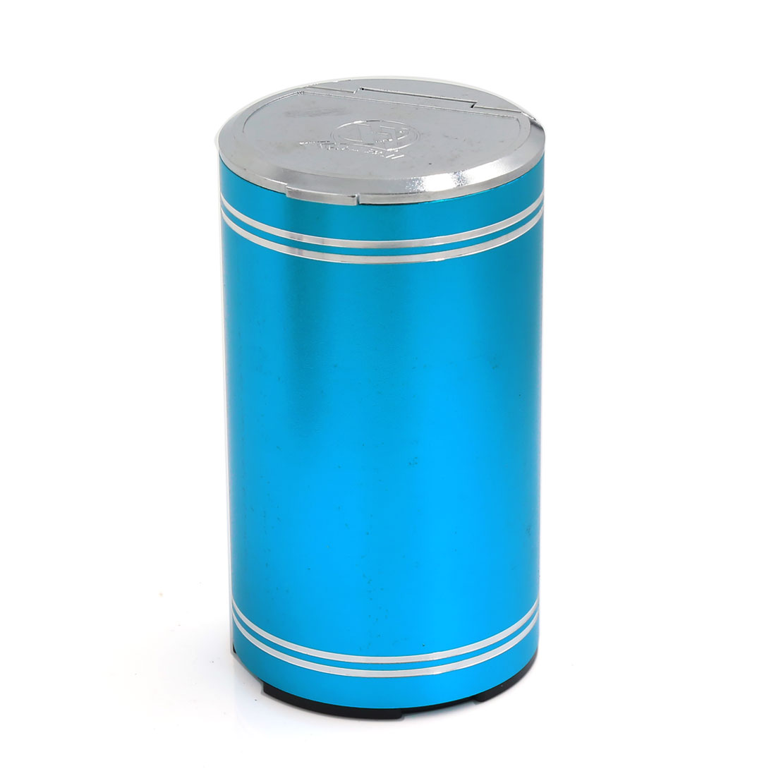 Blue Aluminum Alloy Cylinder Shape Cigarette Ashtray Ash Cup Holder for Car Home