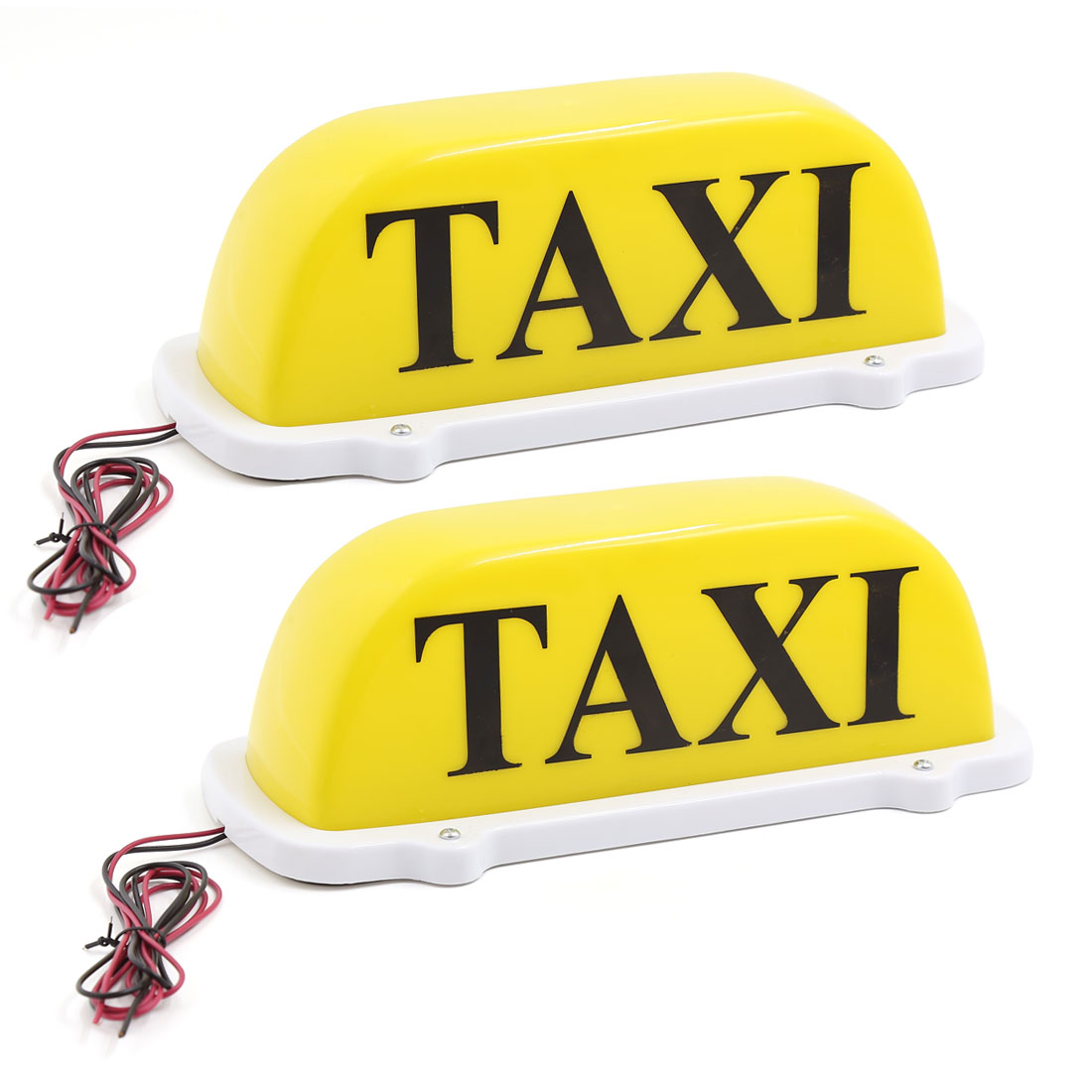 2 Pcs Yellow LED Magnetic Base Car Auto Cab Taxi Roof Lamp Top Sign Light DC 12V