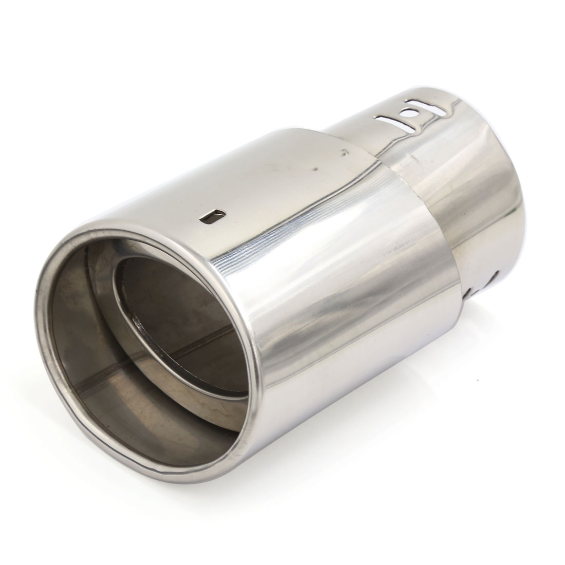 Automotive Stainless Steel Oval Slant Tip Muffler Tail Pipe 72mm Inlet Diameter