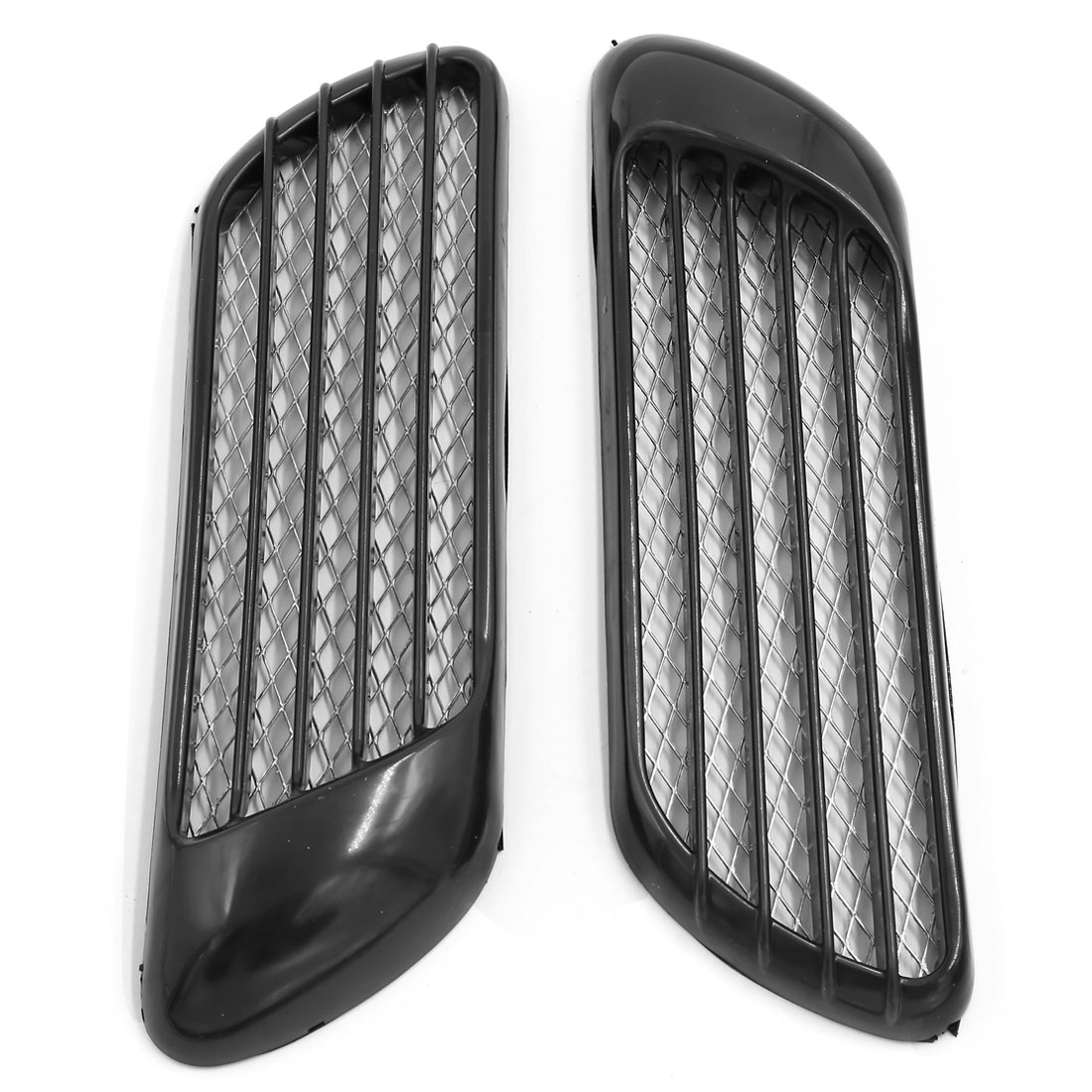 Universal Car Auto Air Flow Intake Grille Fender Side Vents Decorative Sticker 2 Pcs