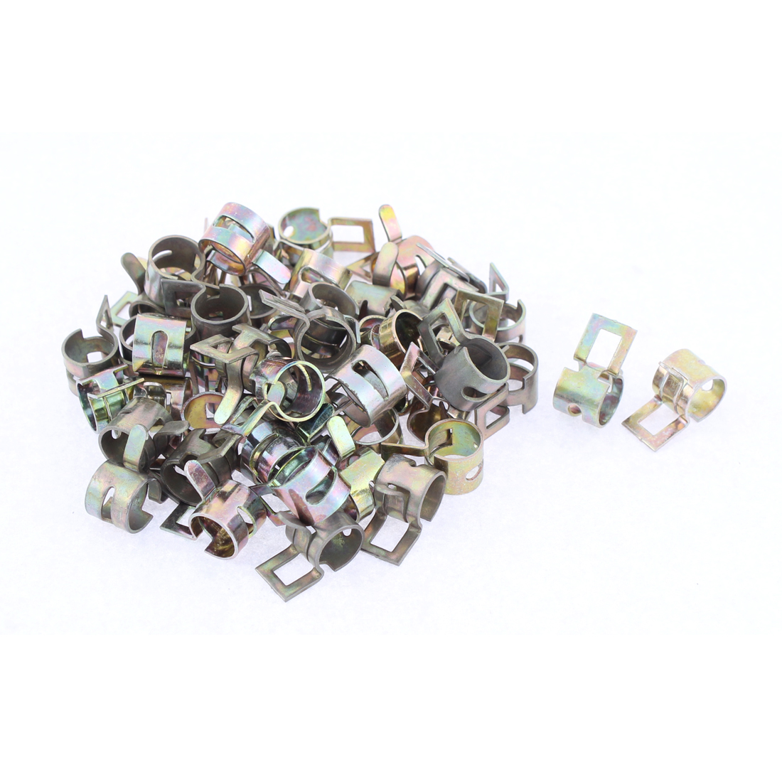 50 Pcs Metal Spring Clip for Fuel Silicone Vacuum Hose Clamp