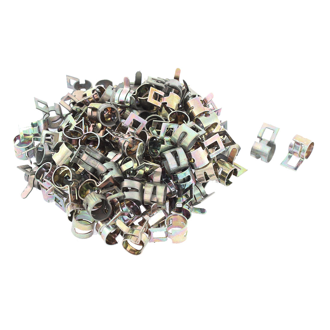 100 Pcs Spring Clip for Fuel Silicone Vacuum Hose Clamp