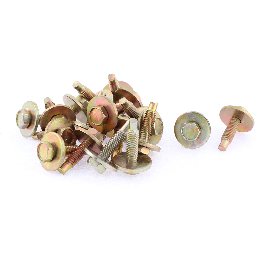 20Pcs Bronze Tone Car Metal Screw Body Fender Retainer Clips