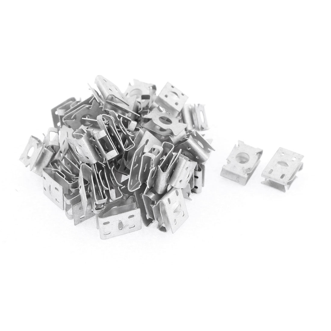 50Pcs Metal Retainer Clips for Car Dash License Plate
