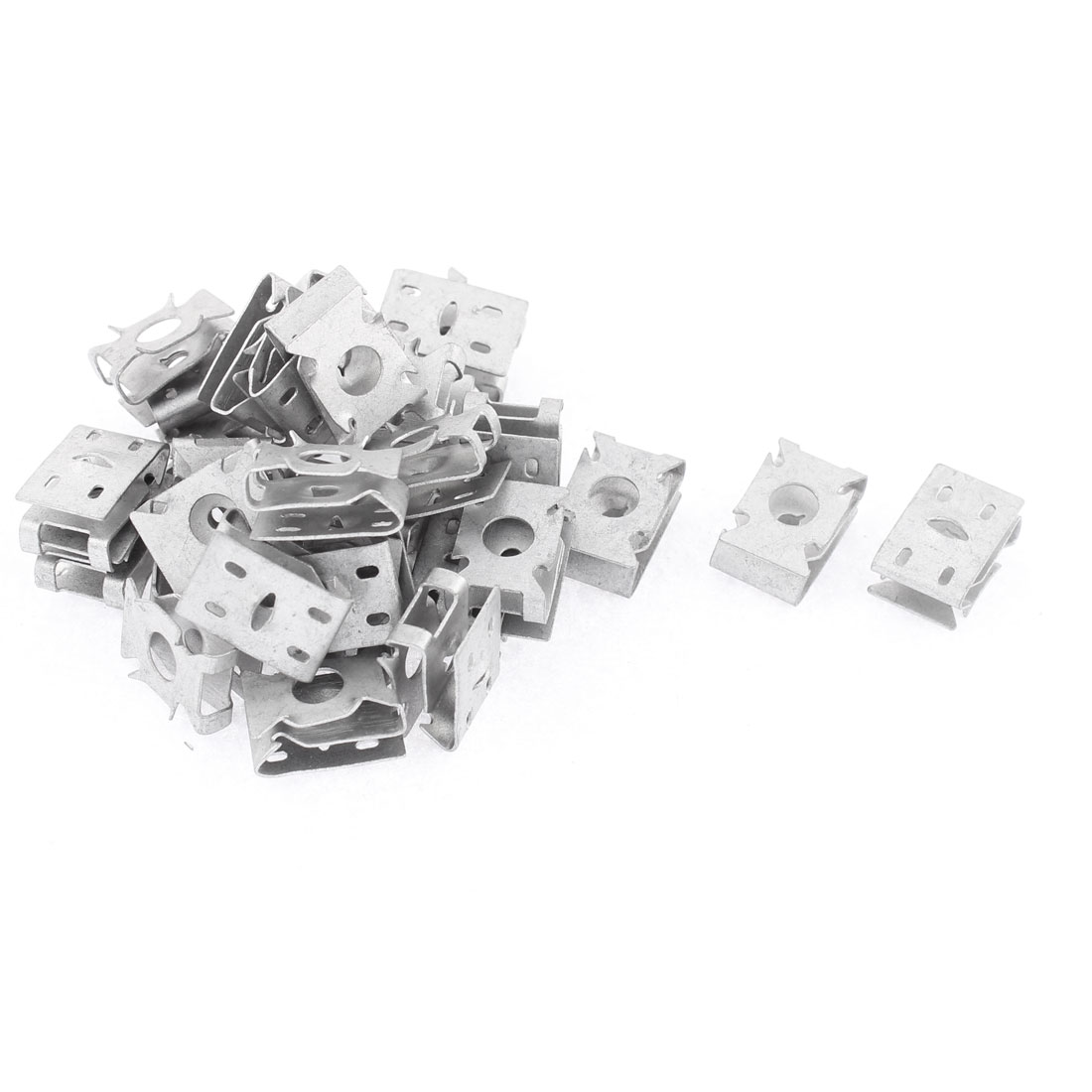 30Pcs Silver Tone Metal Retainer Clips for Car Dash License Plate