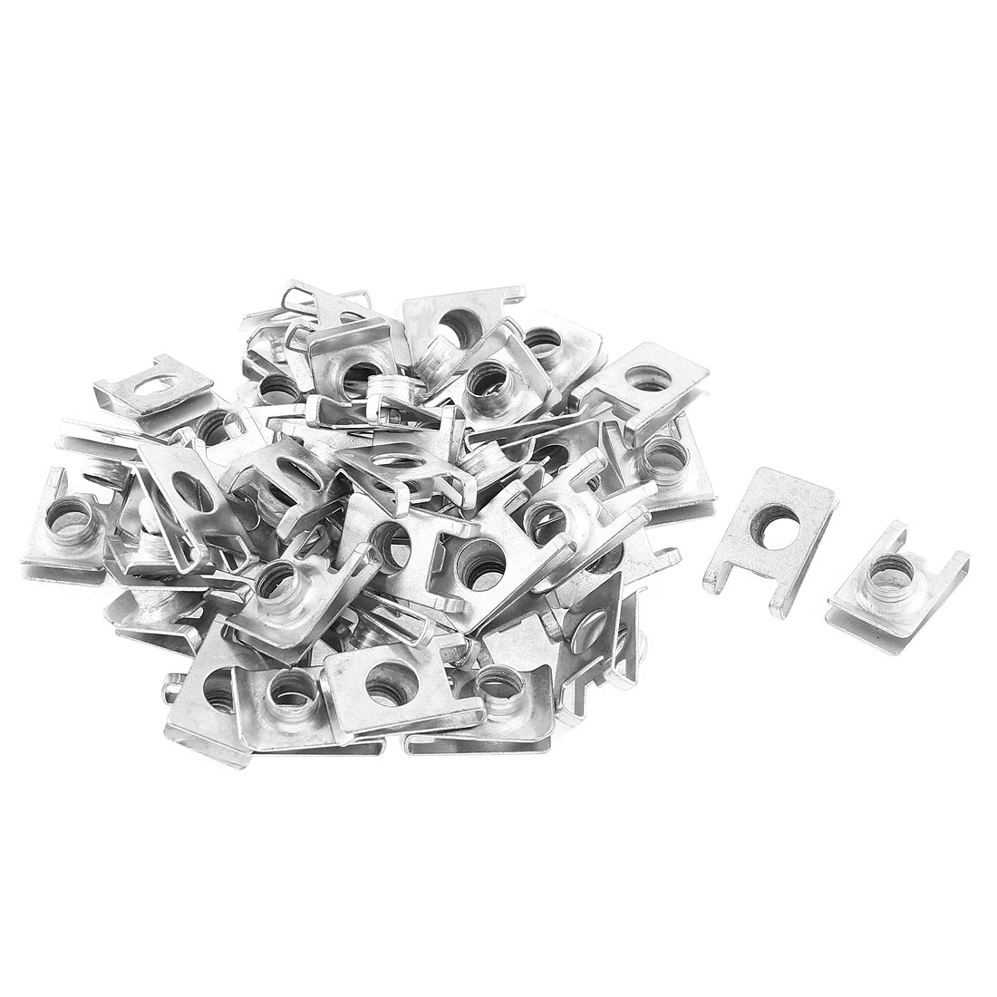 50Pcs Auto Car Dashboard Door Panel Fender Screw U Type Fastener Clips