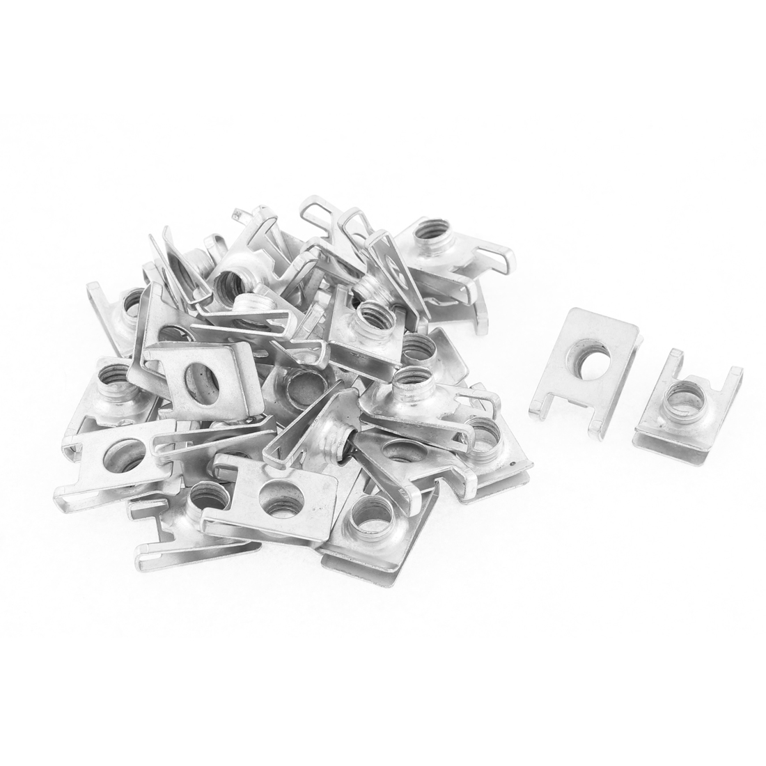 30Pcs Auto Car Dashboard Panel Fender Screw U Type Clips Speed Nuts