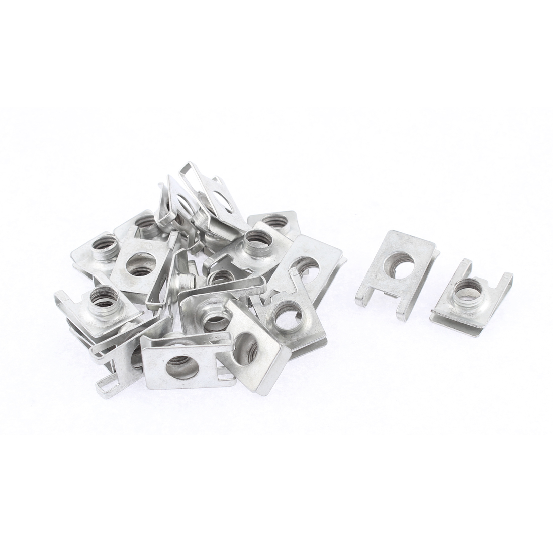 20Pcs Auto Dashboard Panel Fender Screw U Type Clips Speed Nuts