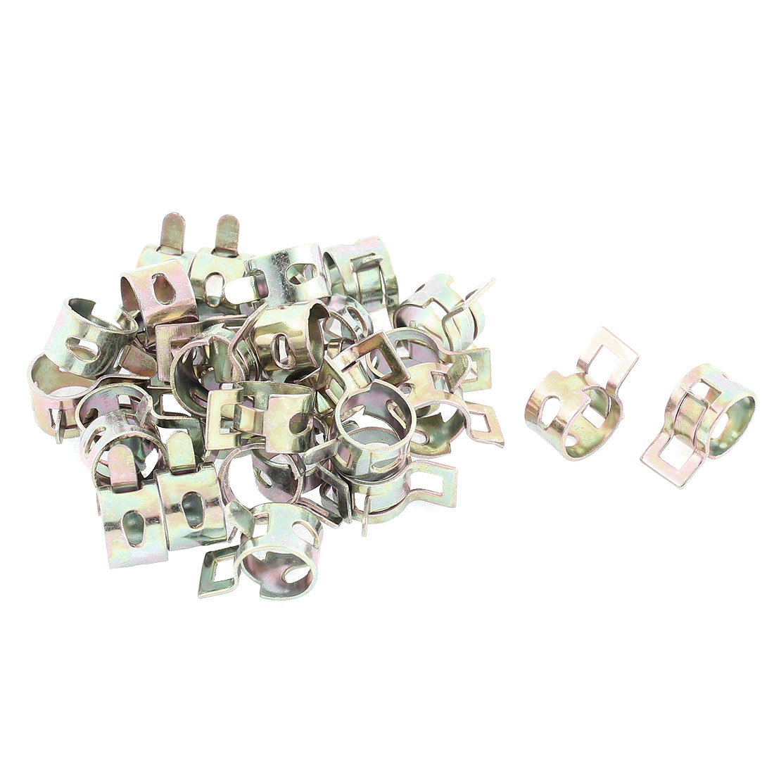 30 Pcs Breather Overflow Pipe Vacuum Hose Spring Clip Clamps