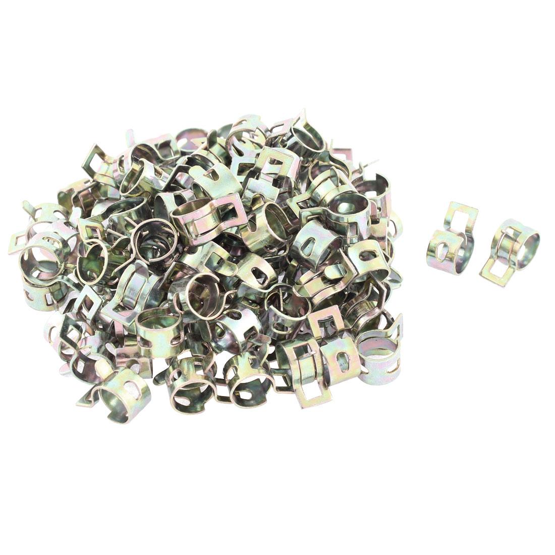 100 Pcs 10mm Dia Vacuum Hose Spring Clip Clamps
