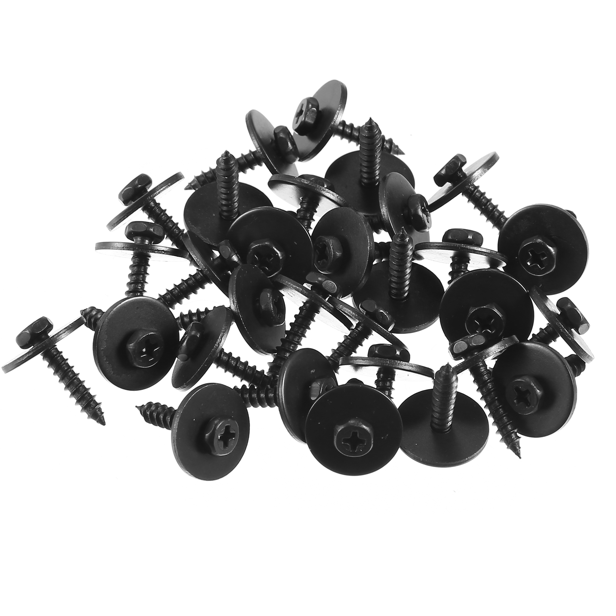 100Pcs Metal Car Screw Body Fender Bumper Retainer Clips