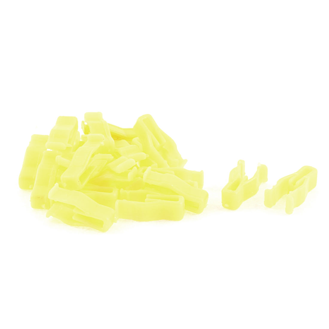20Pcs Auto Car Instrument Panel Dashboard Plastic Fastener Lemon Yellow