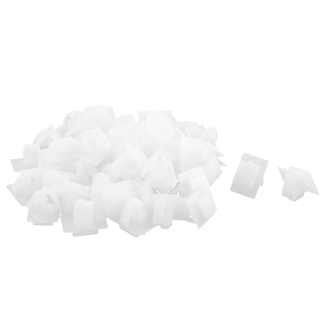 50Pcs White Car Dashboard Splash Guard Plastic Retainer Clip for Hyundai