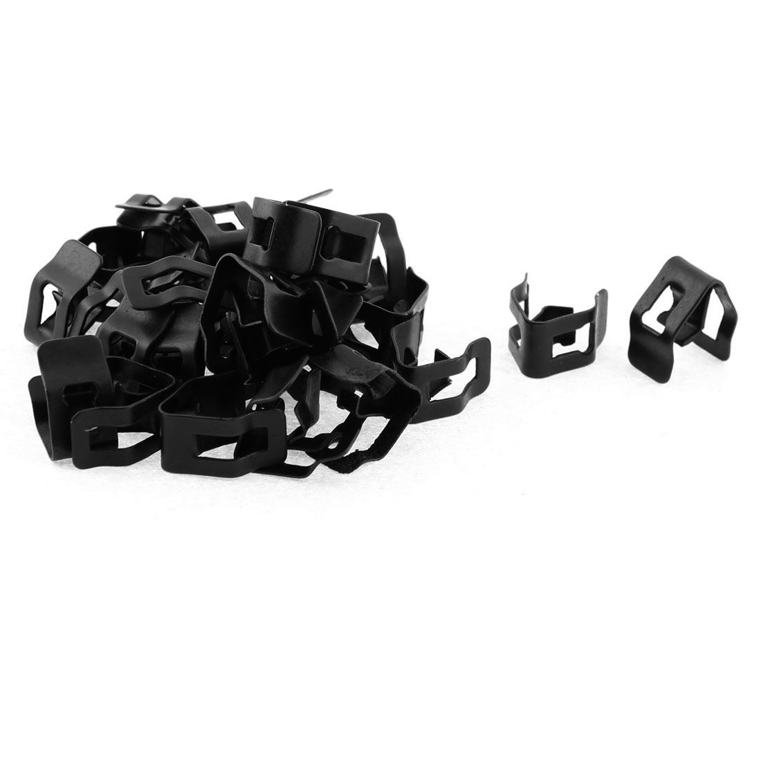 30Pcs Black Auto Car Dash Dashboard Trim Metal Fastener